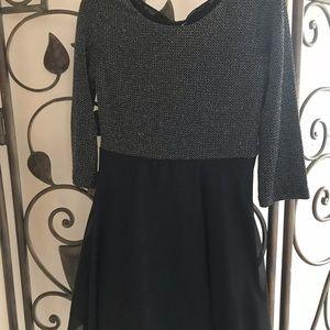 Girls black and silver dressy dress